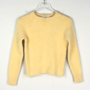 Vintage Express Cropped Pullover Fuzzy Sweater XS